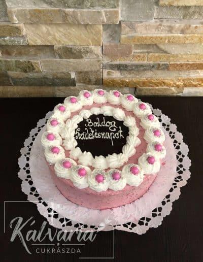 Málnakrém torta