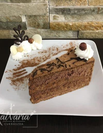 Nutellás tortaszelet