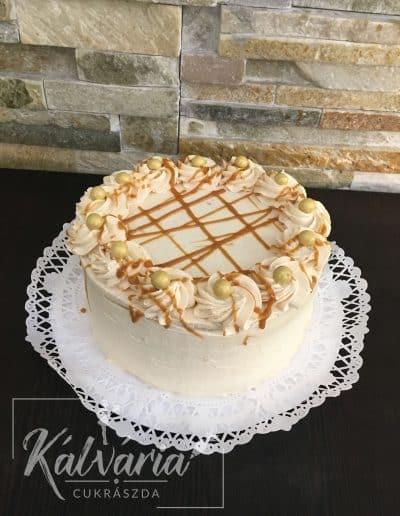 Karamellás sajtkrém torta